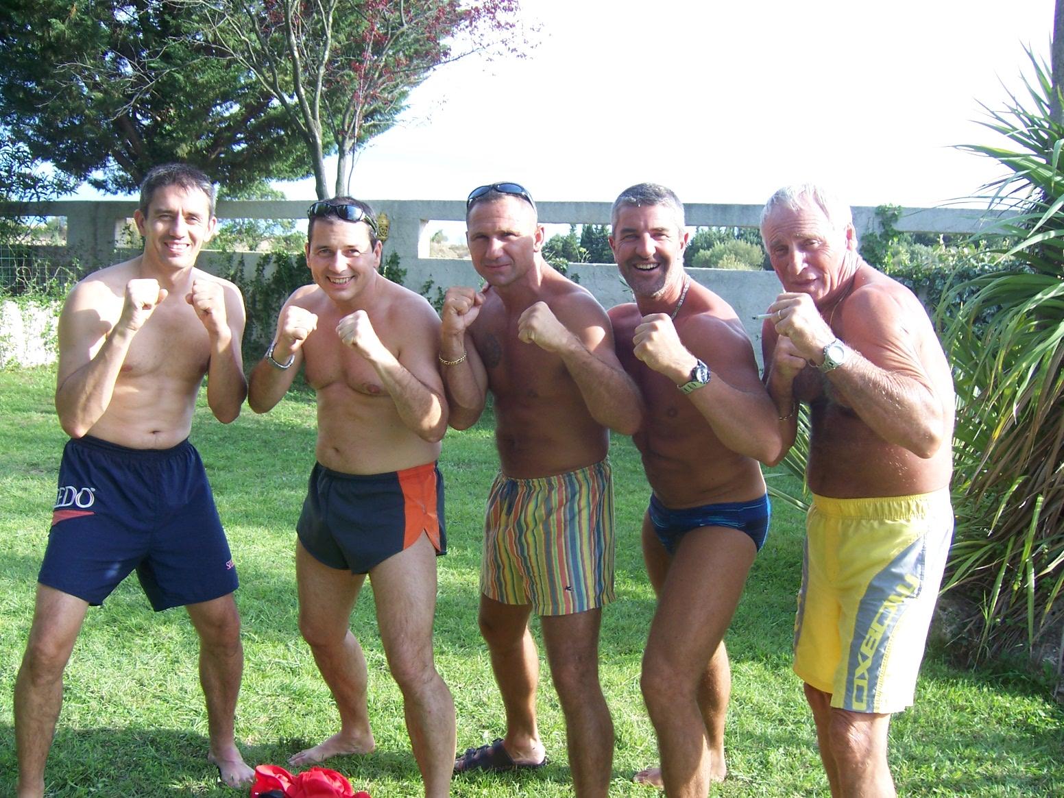 La bande: Christian Merle , Christian et Patrice et deux amis