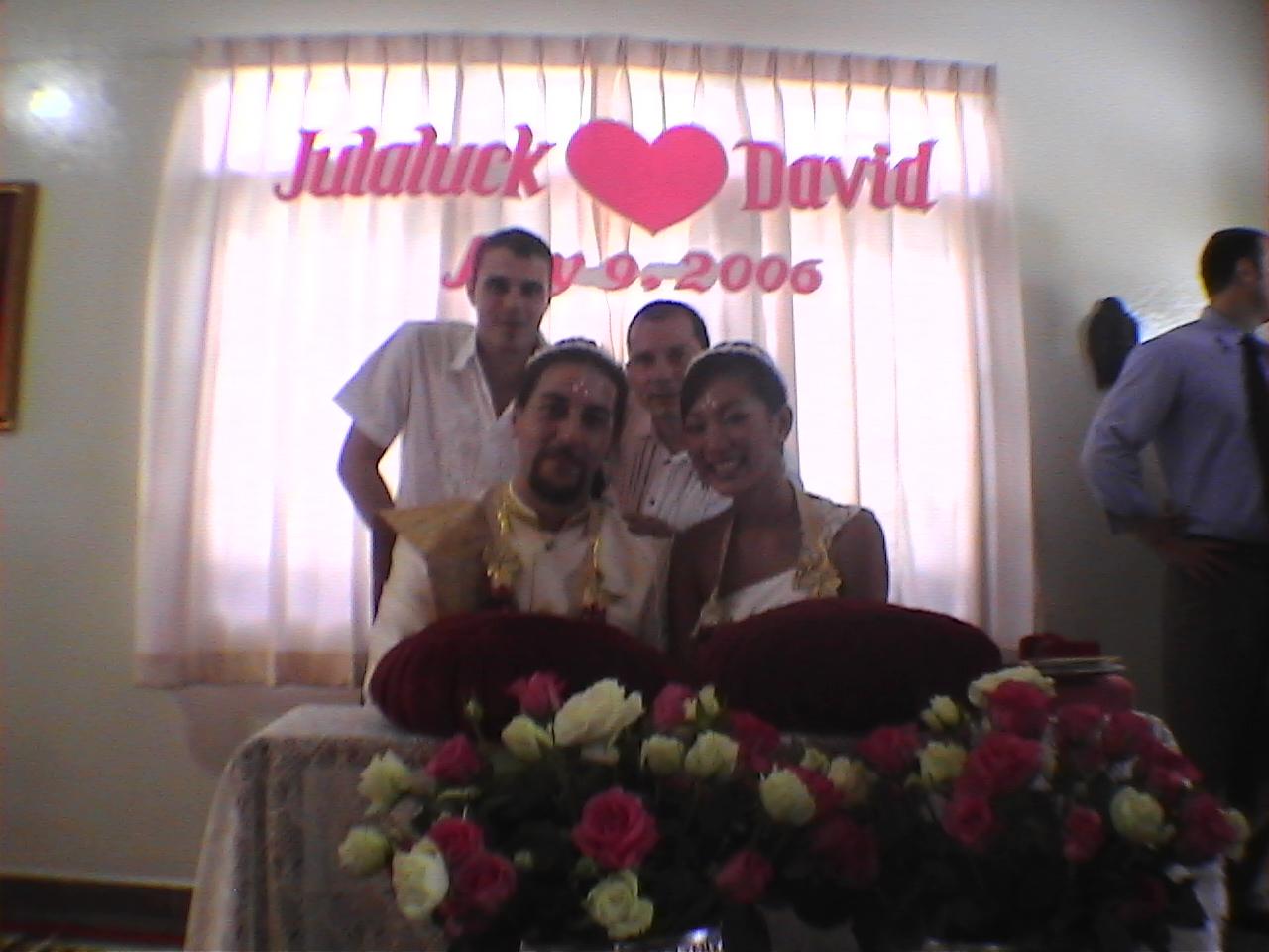 témoin au mariage de Ying et David Ismalone